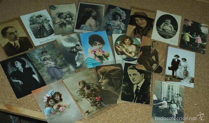 POSTALES LOTE DE 20- AÑOS 1911-15-20-22-30-45 - NIÑOS -SEÑORITAS ELEGANTES -ACTORES-MUY BONITAS (Postales - Varios)
