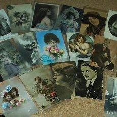 Postales: POSTALES LOTE DE 20- AÑOS 1911-15-20-22-30-45 - NIÑOS -SEÑORITAS ELEGANTES -ACTORES-MUY BONITAS. Lote 56747325