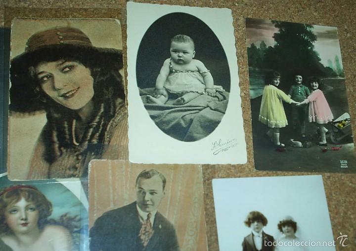 Postales: POSTALES LOTE DE 20- AÑOS 1911-15-20-22-30-45 - NIÑOS -SEÑORITAS ELEGANTES -ACTORES-MUY BONITAS - Foto 3 - 56747325
