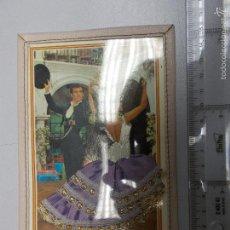 Postales: POSTAL BORDADA CON FALDA EN TELA FORRADA EN PIEL. Lote 57142660