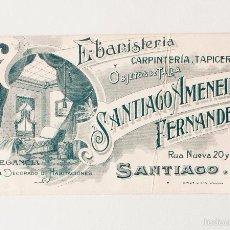 Postales: EBANISTERÍA Y OBJETOS DE TALLA SANTIAGO AMENEIRO, SANTIAGO PP. S. XX. GALICIA. Lote 57345741