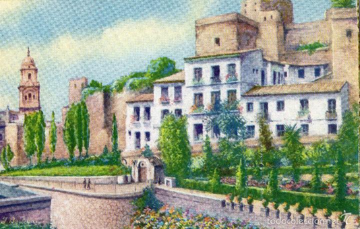 alcazaba arabe y jardines puerta oscura no circulada postales espaa