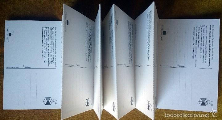 Postales: Tira con 10 postales editadas por el Parlamento Europeo para las elecciones de 1999. En Inglés. - Foto 2 - 57920676