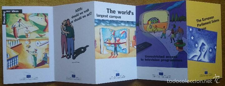 Postales: Tira con 10 postales editadas por el Parlamento Europeo para las elecciones de 1999. En Inglés. - Foto 3 - 57920676