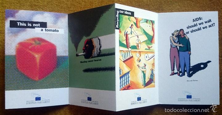 Postales: Tira con 10 postales editadas por el Parlamento Europeo para las elecciones de 1999. En Inglés. - Foto 4 - 57920676