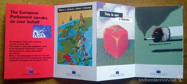 Postales: Tira con 10 postales editadas por el Parlamento Europeo para las elecciones de 1999. En Inglés. - Foto 5 - 57920676