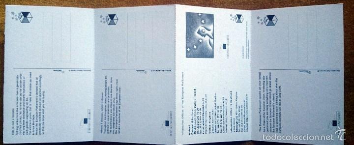 Postales: Tira con 10 postales editadas por el Parlamento Europeo para las elecciones de 1999. En Inglés. - Foto 6 - 57920676