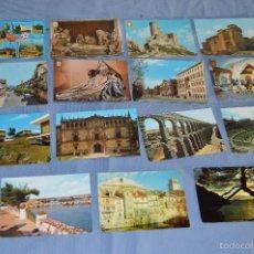 Postales: LOTE 31 POSTALES SIN CIRCULAR, PAISAJES, CASTILLOS, ILUSTRACIONES, LOTERÍA, MUNDIAL 82 - BUEN ESTADO. Lote 58217600