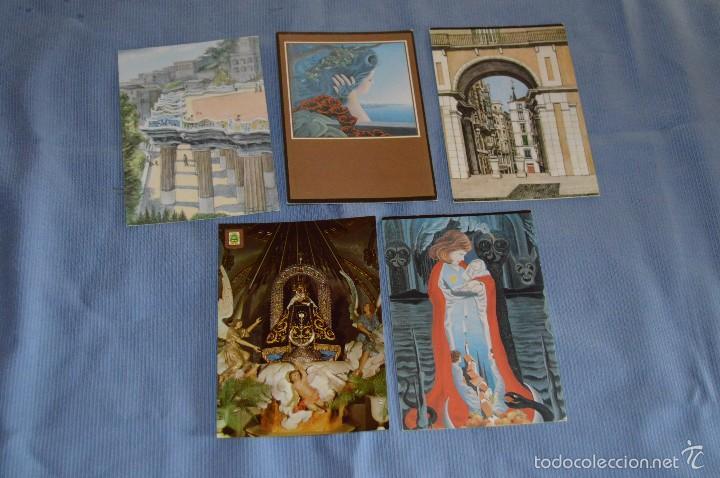 Postales: Lote 31 postales Sin circular, paisajes, castillos, ilustraciones, lotería, Mundial 82 - Buen estado - Foto 3 - 58217600