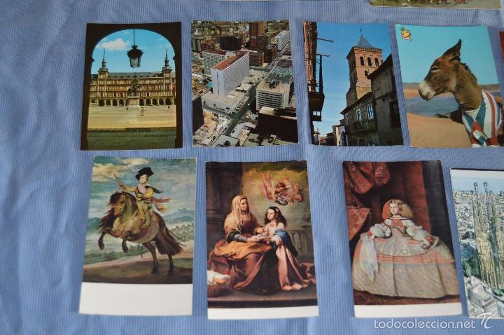 Postales: Lote 31 postales Sin circular, paisajes, castillos, ilustraciones, lotería, Mundial 82 - Buen estado - Foto 13 - 58217600