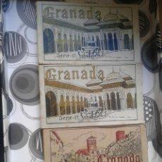 Postales: LOTE 3 BLOC POSTALES GRANADAS SERIE 1ª SERIE 1ª Y SERIE 3ª MUY ANTIGUAS. Lote 58502845