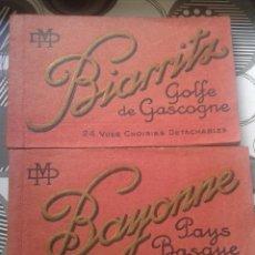Postales: LOTE 2 BLOCKS POSTALES BIARRITZ,GOLFE DE GASCOGNE, Y BAYONNE PAYS BASQUE AÑOS 20 FOTOTIPO. Lote 58503076