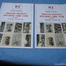 Postales: CATALOGO POSTALES DE ESPAÑA ANTIGUAS DE 1900 A 1930 FILATELIA SOLER SEPBRE-DICIEMBRE 1999. Lote 58563139