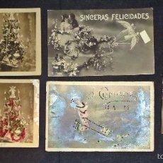 Postales: 5 ANTIGUAS POSTALES DE FELICITACIÓN. VER FOTOGRAFÍAS. Lote 59787036