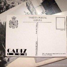 Postales: COLECCIÓN 8 POSTALES DE LAS FOTOGRAFÍAS ANTIGUAS DE CÁDIZ REALIZADAS POR RAMÓN MUÑOZ (CÁDIZ 1900). Lote 60189535