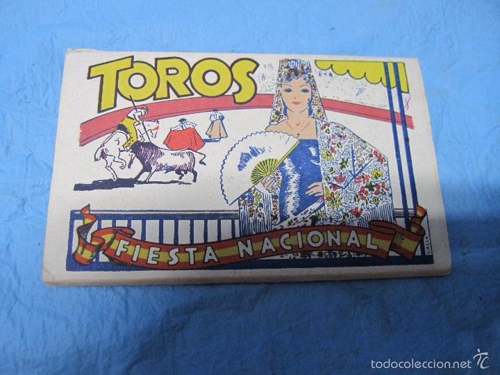 LIBRO DE POSTALES TEMATICAS SOBRE TOROS FIESTA NACIONAL ESPAÑOLA HELIOTIPIA ARTISTICA (Postales - Varios)