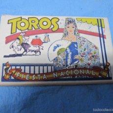 Postales: LIBRO DE POSTALES TEMATICAS SOBRE TOROS FIESTA NACIONAL ESPAÑOLA HELIOTIPIA ARTISTICA. Lote 60843647