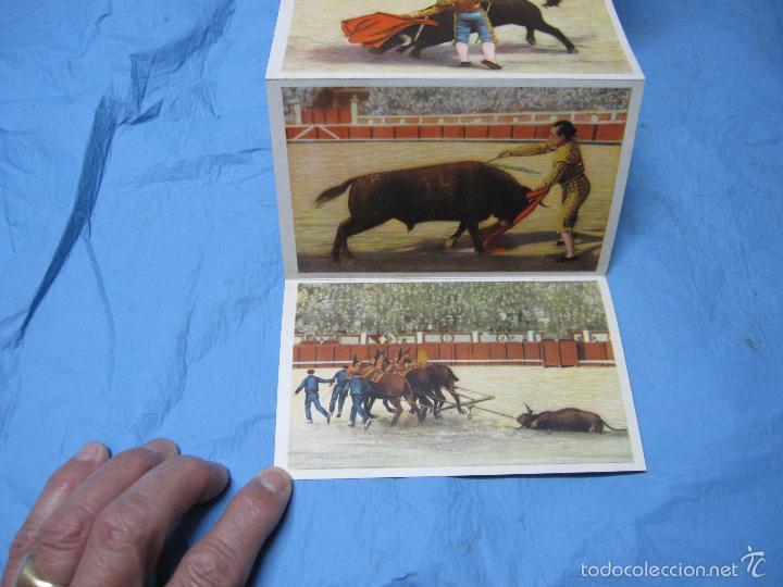 Postales: LIBRO DE POSTALES TEMATICAS SOBRE TOROS FIESTA NACIONAL ESPAÑOLA HELIOTIPIA ARTISTICA - Foto 2 - 60843647