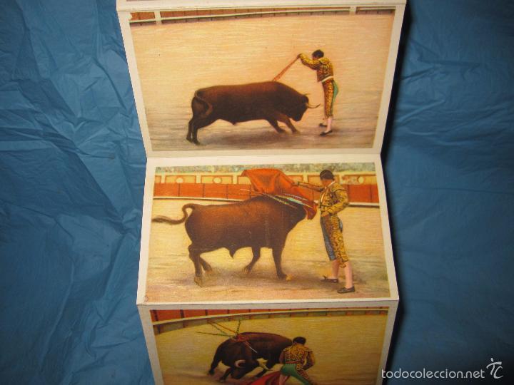 Postales: LIBRO DE POSTALES TEMATICAS SOBRE TOROS FIESTA NACIONAL ESPAÑOLA HELIOTIPIA ARTISTICA - Foto 4 - 60843647