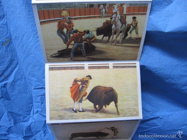 Postales: LIBRO DE POSTALES TEMATICAS SOBRE TOROS FIESTA NACIONAL ESPAÑOLA HELIOTIPIA ARTISTICA - Foto 5 - 60843647
