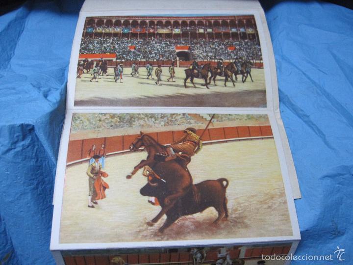 Postales: LIBRO DE POSTALES TEMATICAS SOBRE TOROS FIESTA NACIONAL ESPAÑOLA HELIOTIPIA ARTISTICA - Foto 6 - 60843647