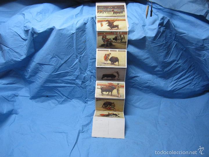 Postales: LIBRO DE POSTALES TEMATICAS SOBRE TOROS FIESTA NACIONAL ESPAÑOLA HELIOTIPIA ARTISTICA - Foto 7 - 60843647