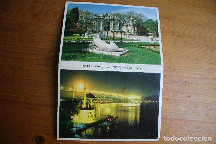 LOTE LIBRO CON 12 POSTALES DE ESTAMBUL (Postales - Varios)