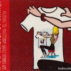 Postales: MAX. TARJETA PARA PRODUCTORA DE CAMISETAS. BARCELONA AÑOS 70. Lote 137375433