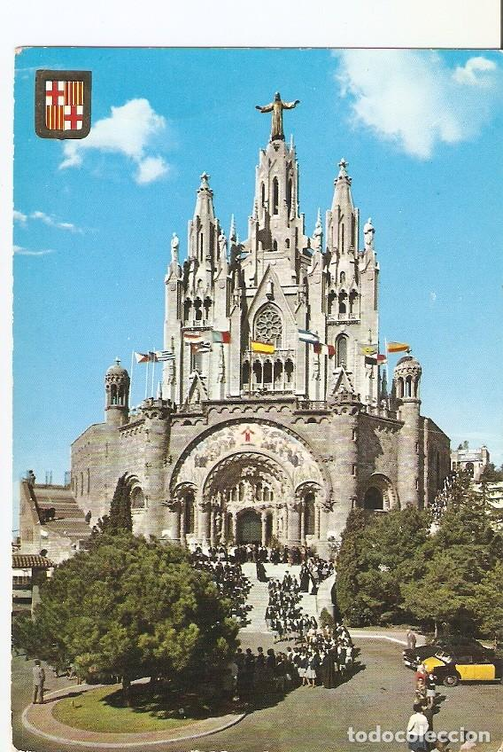 POSTAL 022932 : TEMPLO EXPIATORIO. TIBIDABO, BARCELONA (Postales - Varios)