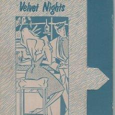 Postales: CARPETA 51986: CARPETA VACIA SENTO . VELVET NIGHTS. Lote 55635632