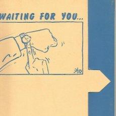 Postales: CARPETA 51990: CARPETA VACIA KIKO FERIA - WAITING FOR YOU …. Lote 55635636