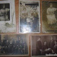 Postales: ANTIGUAS POSTALES LOTE DE 5 FOTOS POSTAL FAMILIA. Lote 64194579