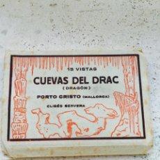 Postales: 15 VISTAS CUEVAS DEL DRACK, MALLORCA. Lote 64299809