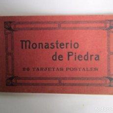 Postales: LIBRITO CON 14 POSTALES ANTIGUAS DEL MONASTERIO DE PIEDRA. Lote 64367243