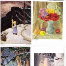 Postales: LOTE DE 4 POSTALES ORIGINALES COLOR ALEMANAS. Lote 64481195