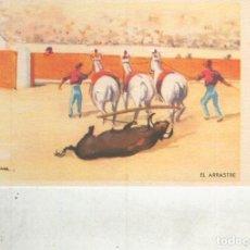 Postales: POSTAL 014823: ARTES DEL TOREO: EL ARRASTRE. Lote 64694001