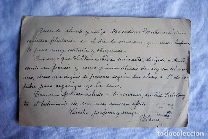 Postales: Tarjeta postal de profesora a alumna años 30-40 - Foto 2 - 66464258