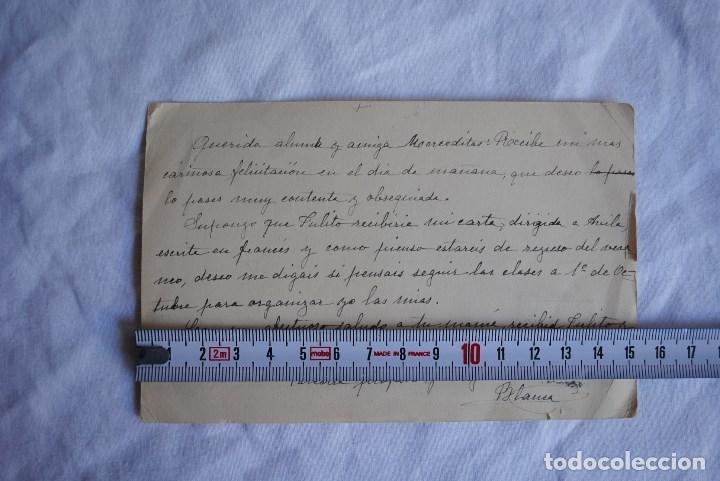 Postales: Tarjeta postal de profesora a alumna años 30-40 - Foto 3 - 66464258