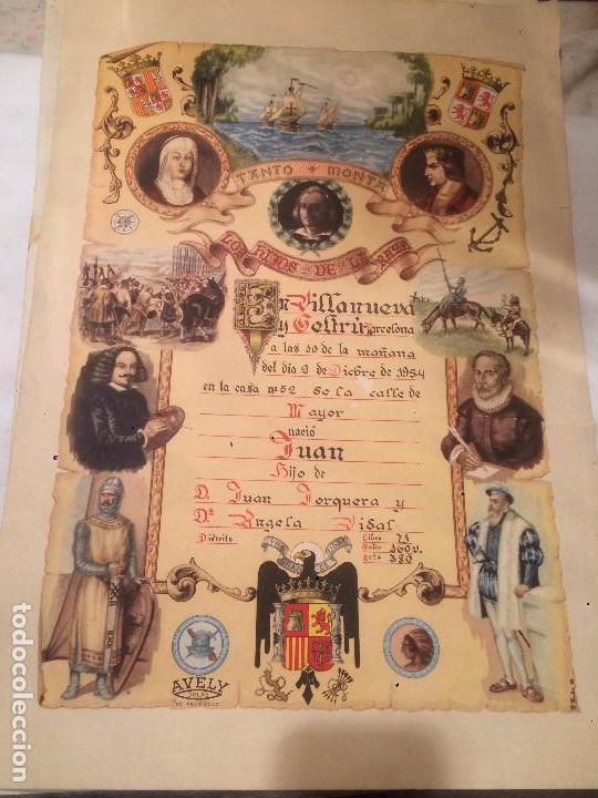 ANTIGUO RECORDATORIO DE NACIMIENTO FECHADO EN 1953 EN VILANOVA Y LA GELTRU (Postales - Varios)