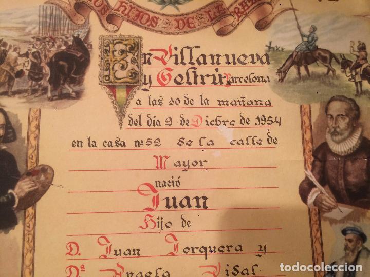 Postales: Antiguo recordatorio de nacimiento fechado en 1953 en Vilanova y la Geltru - Foto 3 - 67040738