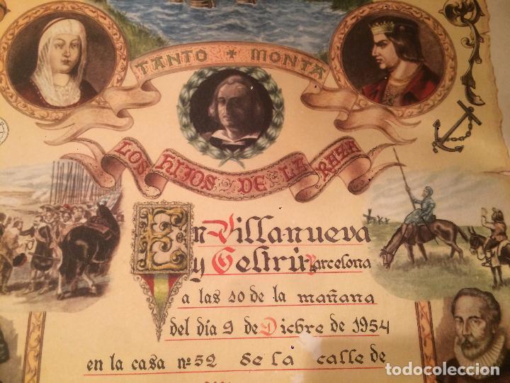 Postales: Antiguo recordatorio de nacimiento fechado en 1953 en Vilanova y la Geltru - Foto 4 - 67040738
