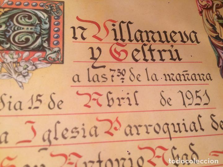 Postales: Antiguo recordatorio de boda fechado en 1951 en Vilanova y la Geltru - Foto 4 - 67041098