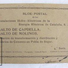 Postales: TACO 20 POSTALES - HIDRO-ELÉCTRICAS DE ENERGÍA ELÉCTRICA DE CATALUÑA - SALTO CAPDELLA, SALTO MOLINOS. Lote 67112137