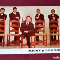 Postales: POSTAL PUBLICITARIA DEL GRUPO MUSICAL MICKY Y LOS TONYS. Lote 67775693
