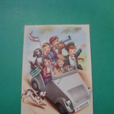 Postales: NIÑOS FANS R.C.D. ESPAÑOL Y BETIS EN BISCUTER - 1959. Lote 68938889