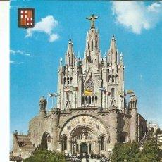 Postales: POSTAL 022428 : TIBIDABO, TEMPLO EXPIATORIO, BARCELONA. Lote 69562922