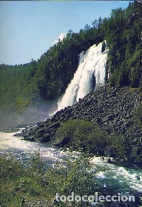 POSTAL 56365: NORWAY ESPELANDSFOSS WATERFALL HARDANGER (Postales - Varios)