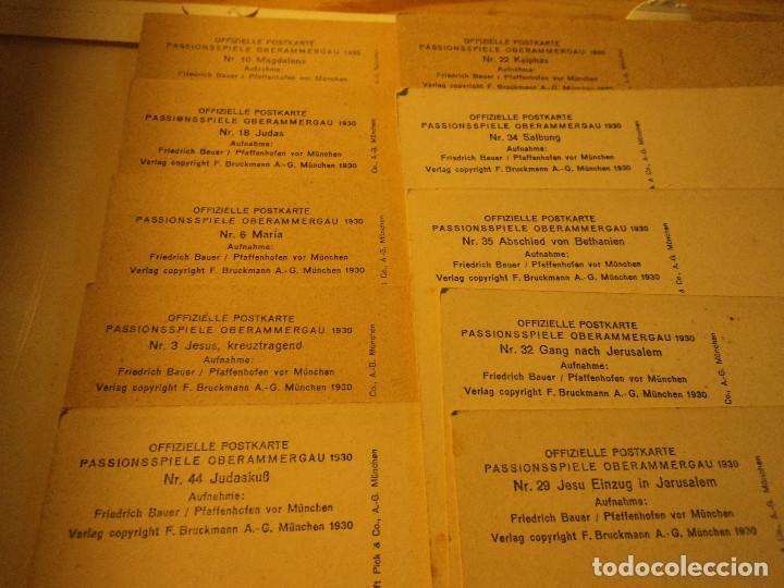 Postales: 10 POSTALES OFFIZIELLE POSTKARTE Passionsspiele Oberammergau 1930 - Foto 3 - 75593599