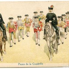 Postales: CORRIDA DE TOROS, TAUROMAQUIA, SERIE DE 13 POSTALES REVERSO SIN DIVIDIR, MUY RARA, CROMOLITOGRÁFICA. Lote 75648303