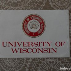 Postales: POSTAL UNIVERSITY OF WISCONSIN. Lote 79605253